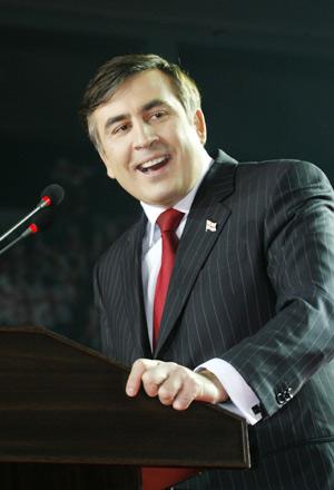 Le président géorgien Saakachvili en 2008