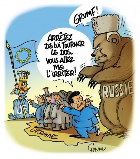 """""""L'Ukraine tiraillée entre une princesse et un ours !"""" - Chaunu pour Ouest France"""