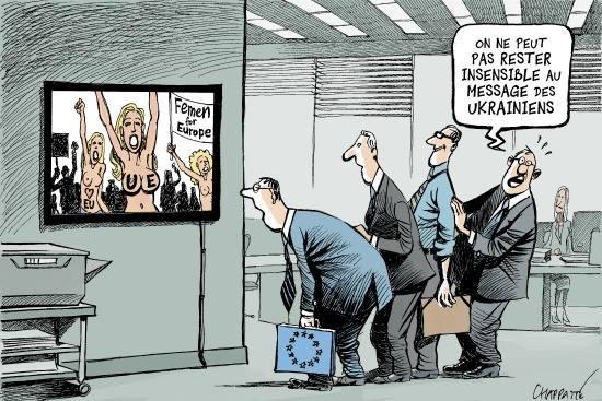 """""""Fonctionnaires européens : on ne peut pas rester insensibles au message des Ukrainiens !"""" Yahoo Actu - le 4 décembre"""