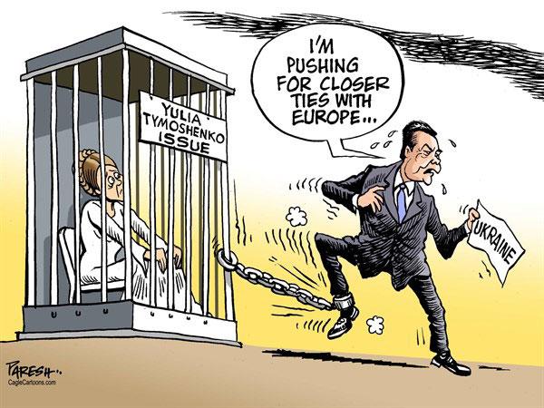 """Le président ukrainien, Viktor Ianoukovitch : """" Je suis en faveur des liens plus étroits avec l'Europe"""" - Paresh Nath pour le Khaleej Time, le 21 novembre"""