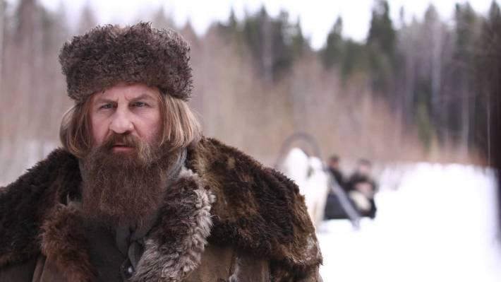 Gérard Depardieu dans le rôle de Raspoutine, dans le téléfilm du même nom, en 2011