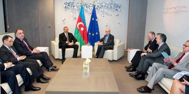 Ilham Aliyev et Herman Von Rompuy